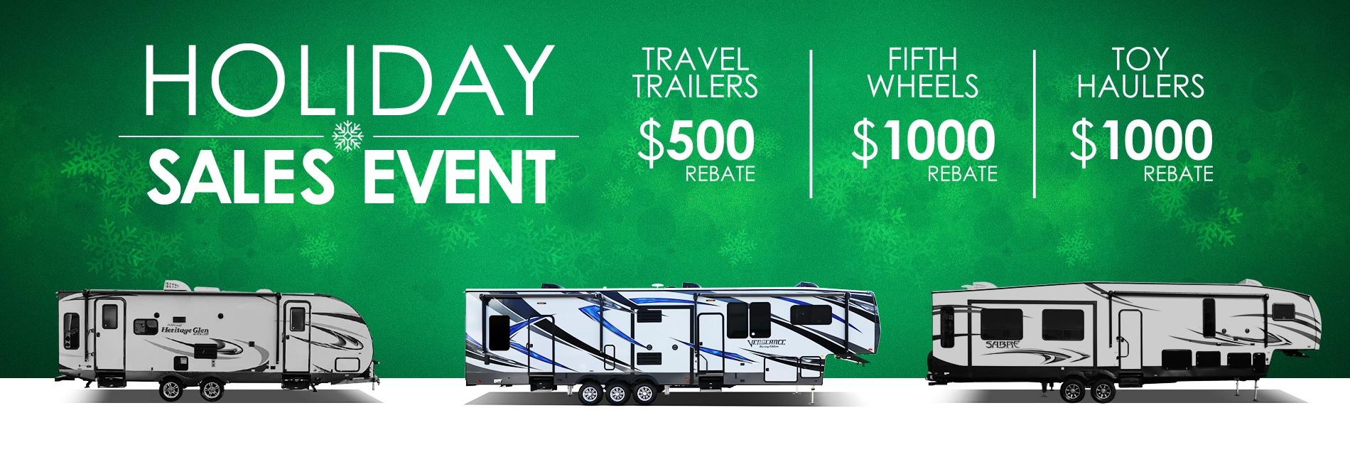 Creative RV - Holiday Sales Event Toy Haulers